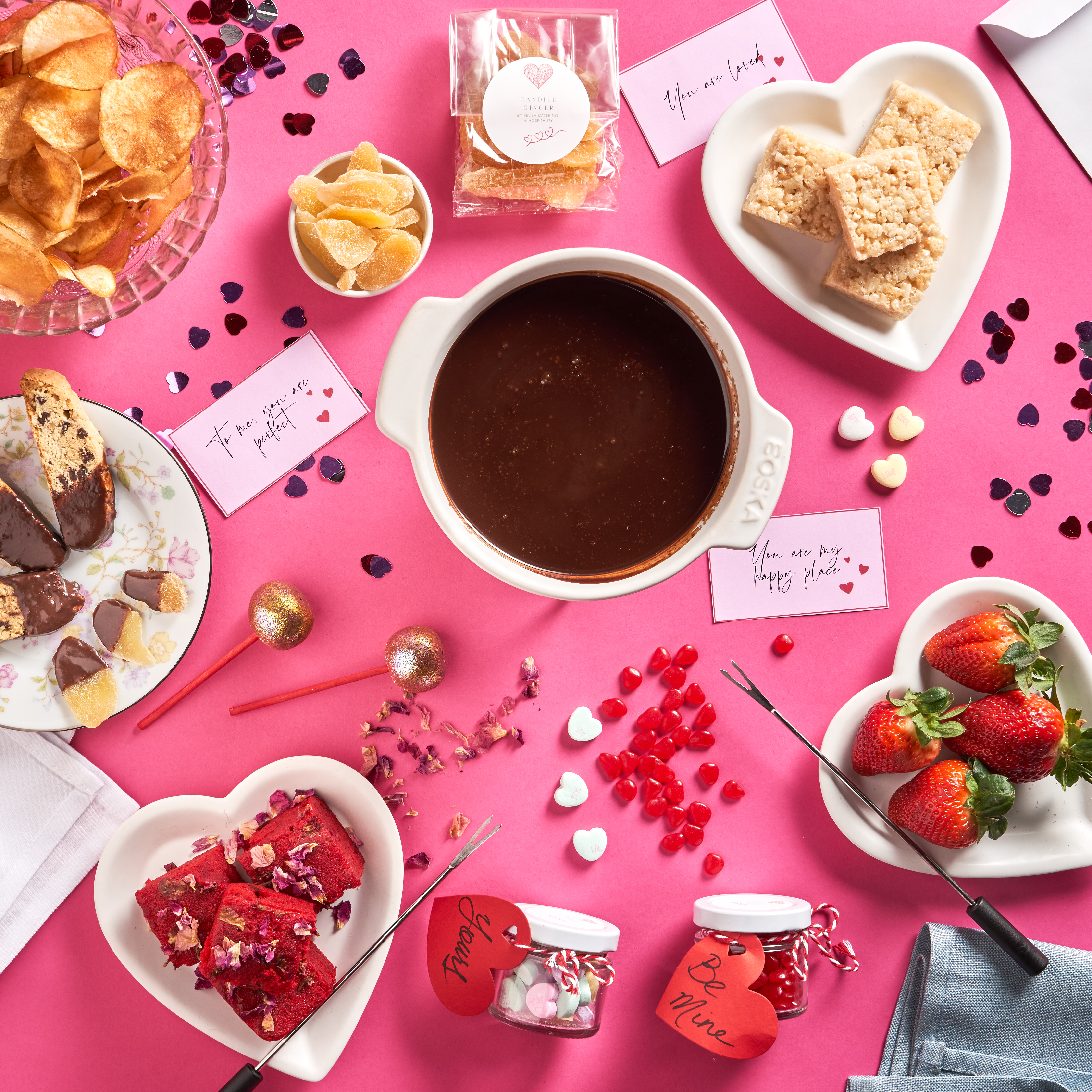Relish Catering's Chocolate Fondue Box has everything you need for an indulgent and fun fondue experience | WhereTraveler