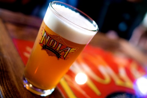 """In a town better known for liquor drinks like """"hurricanes,"""" """"hand grenades"""" and daiquiris, NOLA satisfies the beer lovers. (Courtesy NOLA Brewing Co.)"""