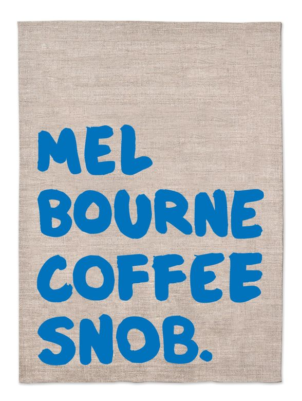 """Coffee making is considered an artform. In Melbourne it's also a way of life. Salute your inner coffee snob or buy this for a friend whothinks they canoutsmart the bean.<strong>RRP $25.<a href=""""http://www.makemeiconic.com"""" target=""""_blank"""">makemeiconic.com</a></strong>(©Make Me Iconic)"""