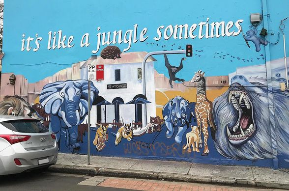 Mural art in Newtown