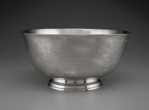 The silver Sons of Liberty Bowl, Boston