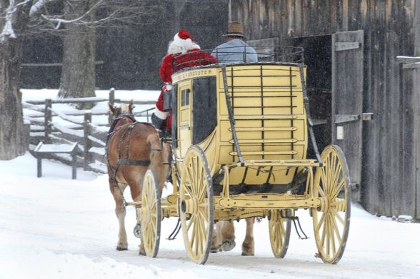 Santa in carriage
