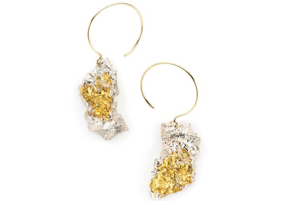 Sand Gold Leaf Earrings by Emanuela Duca found at Manika in San Francisco.