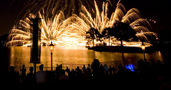 Epcot ends each night with a grand fireworks display at 9 pm. (©Walt Disney World)