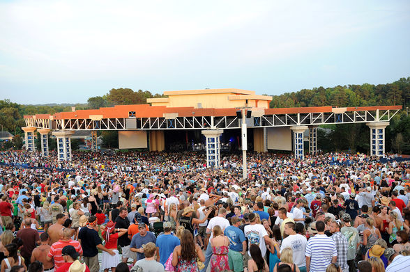 Walnut Creek Ampitheatre is a performance space for large events in Raleigh, North Carolina