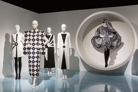 """Pursuit of the Future"""" exhibition is on display at SCAD FASH Museum of Fashion + Film through Sept. 30."""