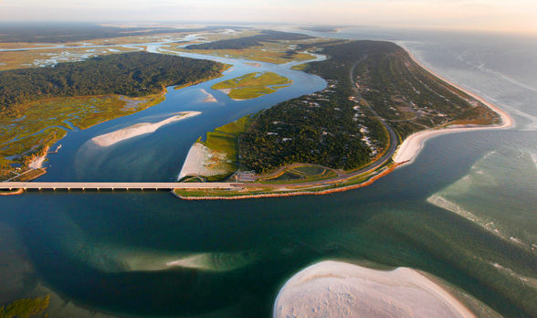 Fort George Inlet near Mayport, Florida