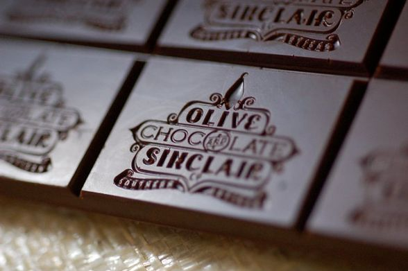 Sample Olive & Sinclair chocolates on a factory tour