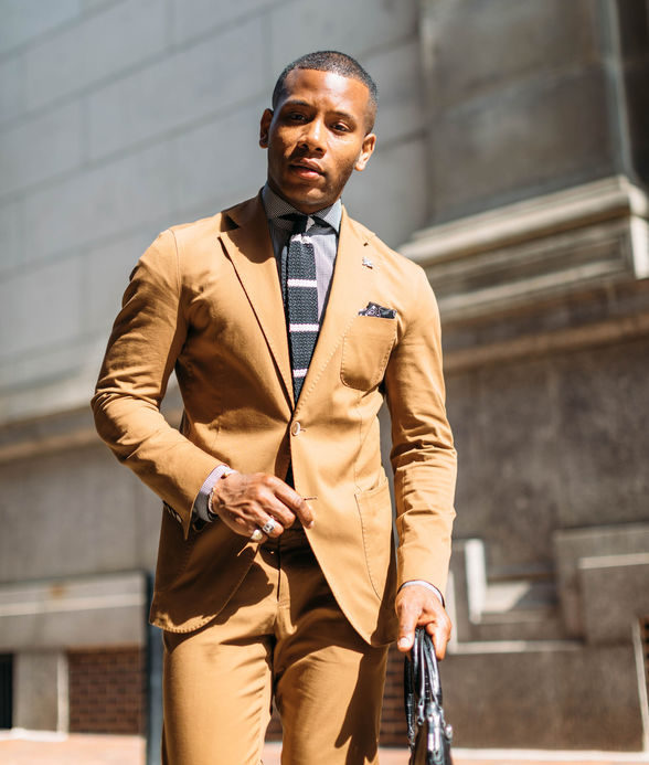 """""""Philly has a unique way of interpreting mainstream fashions and giving them a swagger,"""" says Sabir M. Peele, men's stylist and the blogger behind the website Men's Style Pro 