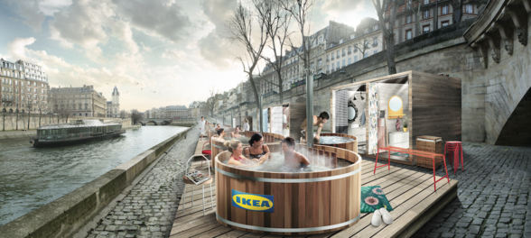 IKEA's Scandinavian baths come to the River Seine