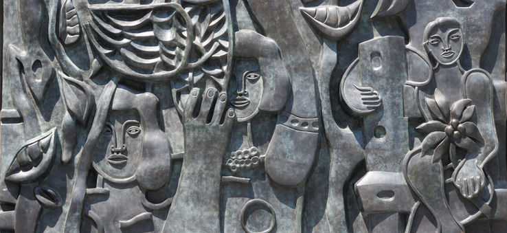 Relief sculpture by Fernand Léger at Citygarden (detail)