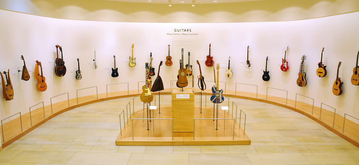 The orientation gallery at the Musical Instrument Museum.