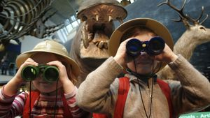 Kids at Natural History Museum, London, England, United Kingdom