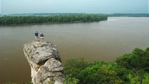 On the bluffs above the Mississippi River west of Alton, Illinois