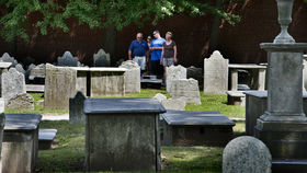 The Christ Church Burial Ground is where you'll find Benjamin Franklin's Ghost.
