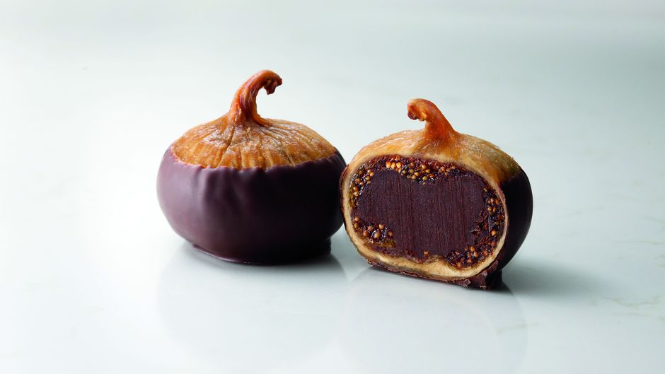 Double-chocolate figs at Fran's Chocolates