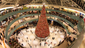 Holiday shoppers at Galleria Dallas