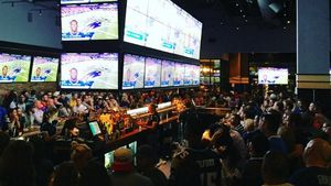 Catch a New England Patriots game at Tony C's in Somerville