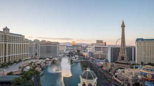 The view of the Las Vegas Strip from the Cosmopolitan of Las Vegas