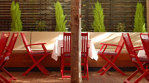 The terrace at Pantry in Berlin