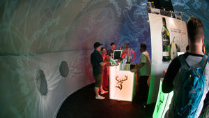 A Glenfiddich Tasting Booth at the New Jersey Food & Wine Festival